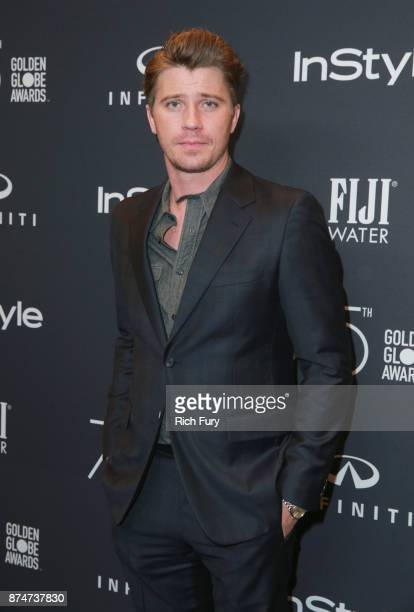 Garrett Hedlund attends the Hollywood Foreign Press Association and InStyle celebrate the 75th Anniversary of The Golden Globe Awards at Catch LA on...