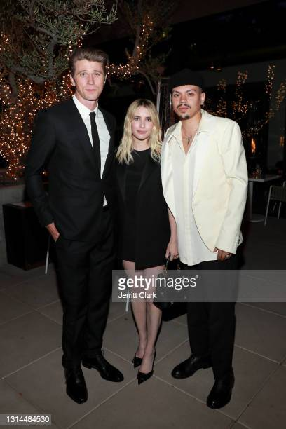 Garrett Hedlund, Emma Roberts and Evan Ross attend Spring Place's Oscars party honoring Andra Day and the cast of The United States vs. Billie...