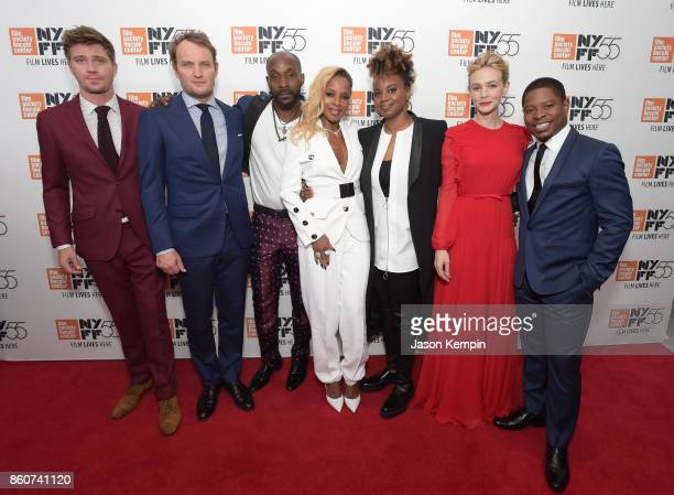 Garrett Hedlund Jason Clarke Rob Morgan Mary J Blige Director Dee Rees Carey Mulligan and Jason Mitchell attend the 55th New York Film Festival...