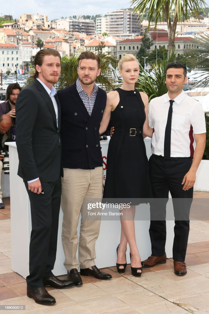 Garrett Hedlund, Justin Timberlake, Carey Mulligan and Oscar Isaac attend the photocall for 'Inside Llewyn Davis' during the 66th Annual Cannes Film Festival at Palais des Festivals on May 19, 2013 in Cannes, France.