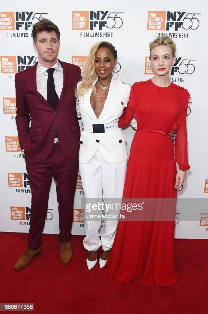 Garrett Hedlund Mary J Blige and Carey Mulligan attend the 'Mudbound' premiere during the 55th New York Film Festival at Alice Tully Hall on October...
