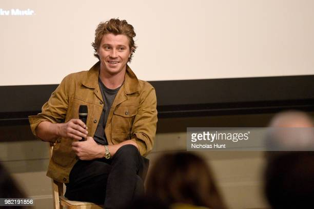 Garrett Hedlund speaks onstage during the 'Burden' QA at the 2018 Nantucket Film Festival Day 4 on June 23 2018 in Nantucket Massachusetts
