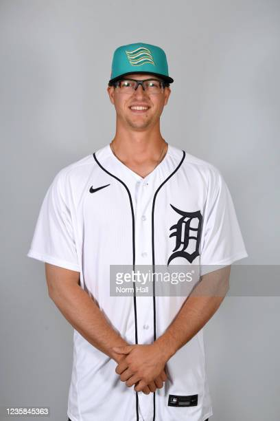 Garrett Hill of the Salt Rive Rafters poses for a headshot during the 2021 Arizona Fall League Headshots at Salt River Fields at Talking Stick on...