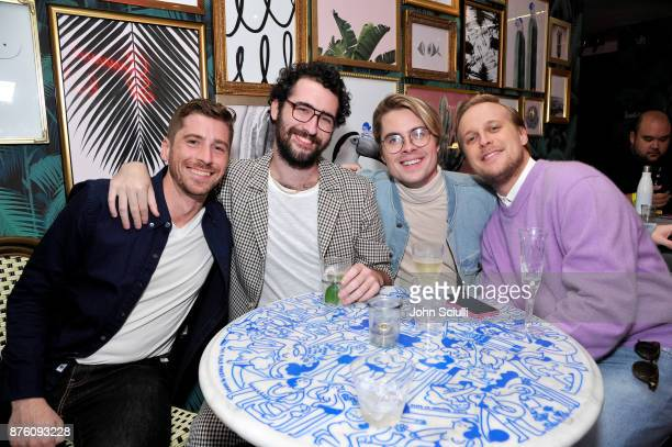 Garrett Miller guest Jeffrey Self and John Early attend the 'Search Party' cocktail reception during Vulture Festival LA presented by ATT on November...