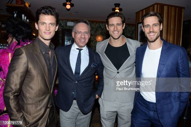 Garrett Neff Andrew Saffir Jordan Stenmark and Zac Stenmark attend MAC Nordstrom And The CFDA Host The After Party For The Times Of Bill Cunningham...