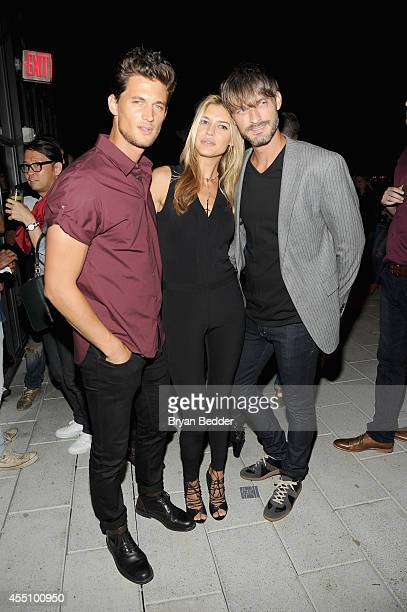 Garrett Neff Kelly Rohr and Ben Hill attend the GQ Fashion Week Party At The Wythe Hotel on September 9 2014 in Brooklyn New York