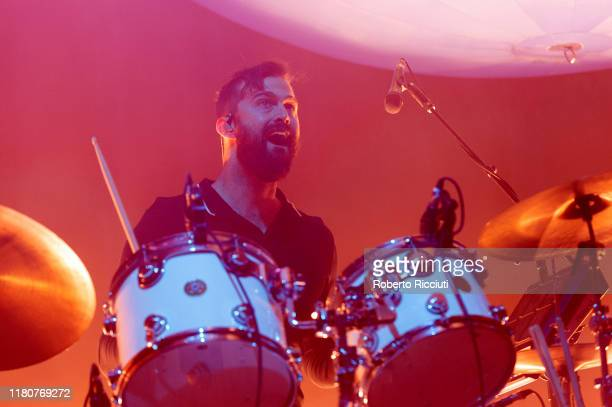 Garrett Ray, touring member of Vampire Weekend, performs on stage at Usher Hall on November 7, 2019 in Edinburgh, Scotland.