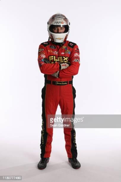 Garrett Smithley poses for a photo at Daytona International Speedway on February 15 2019 in Daytona Beach Florida