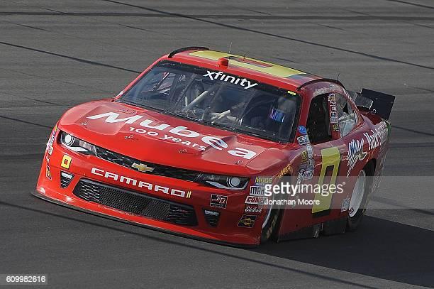 Garrett Smithleyl driver of the teamjdmotorsportscom Chevrolet on track during practice for the NASCAR XFINITY Series VysitMyrtleBeachcom 300 at...