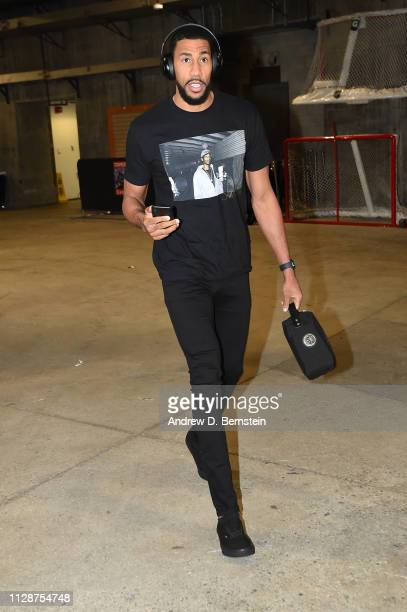 Garrett Temple of the LA Clippers arrives for the game against the Los Angeles Lakers on March 4 2019 at STAPLES Center in Los Angeles California...