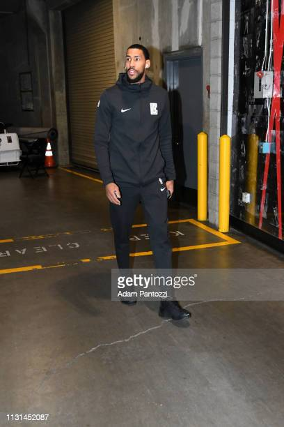 Garrett Temple of the LA Clippers arrives to the game against the Chicago Bulls on March 15 2019 at STAPLES Center in Los Angeles California NOTE TO...