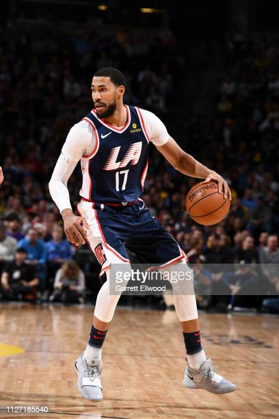 Garrett Temple of the LA Clippers handles the ball against the Denver Nuggets on February 24 2019 at the Pepsi Center in Denver Colorado NOTE TO USER...