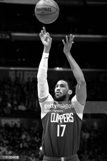 Garrett Temple of the LA Clippers shoots a free throw during the game against the Brooklyn Nets on March 17 2019 at STAPLES Center in Los Angeles...