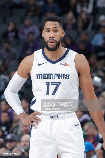 Garrett Temple of the Memphis Grizzlies looks on during the game against the Sacramento Kings on December 21 2018 at Golden 1 Center in Sacramento...