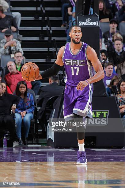 Garrett Temple of the Sacramento Kings brings the ball up the court against the Oklahoma City Thunder on November 23 2016 at Golden 1 Center in...