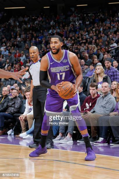 Garrett Temple of the Sacramento Kings handles the ball against the Portland Trail Blazers on November 17 2017 at Golden 1 Center in Sacramento...