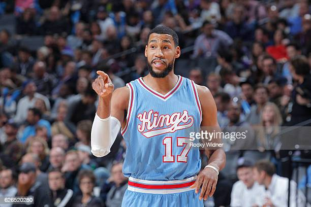 Garrett Temple of the Sacramento Kings looks on during the game against the Los Angeles Clippers on November 18 2016 at Golden 1 Center in Sacramento...