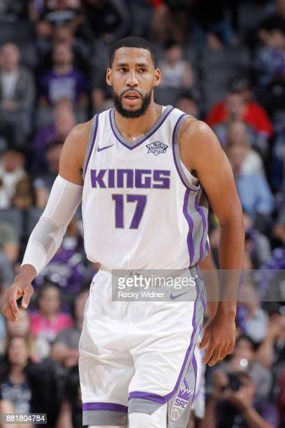 Garrett Temple of the Sacramento Kings looks on during the game against the Los Angeles Clippers on November 25 2017 at Golden 1 Center in Sacramento...