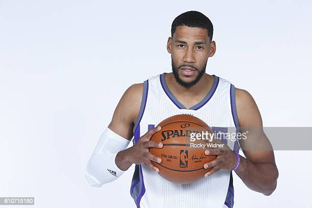 Garrett Temple of the Sacramento Kings poses for a portrait on NBA media day on September 26 2016 at the Kings practice facility in Sacramento...