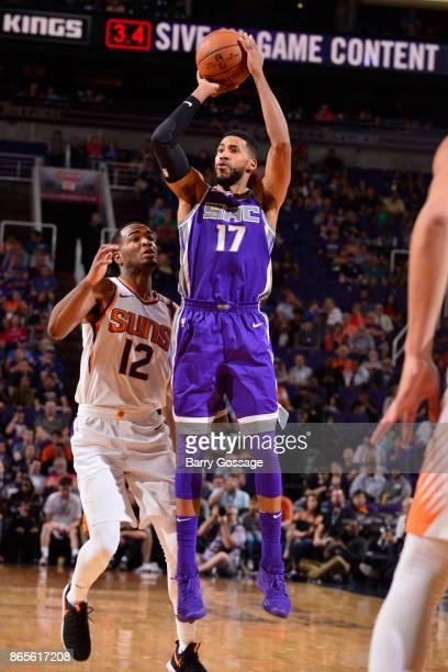 Garrett Temple of the Sacramento Kings shoots the ball against the Phoenix Suns on October 23 2017 at Talking Stick Resort Arena in Phoenix Arizona...