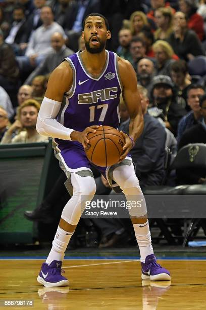 Garrett Temple of the Sacramento Kings takes a shot during a game against the Milwaukee Bucks at the Bradley Center on December 2 2017 in Milwaukee...
