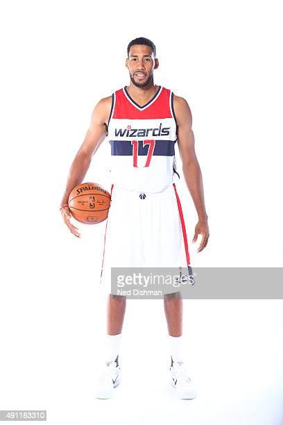 Garrett Temple of the Washington Wizards poses for a photo during media day on September 28 2015 at the Verizon Center in Washington DC NOTE TO USER...
