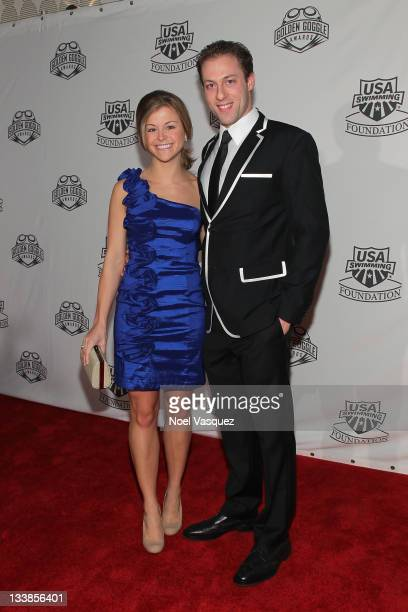 Garrett WeberGale and guest attend the 2011 Golden Goggles at JW Marriott Los Angeles at LA LIVE on November 20 2011 in Los Angeles California