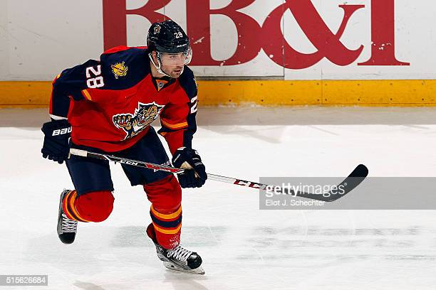Garrett Wilson of the Florida Panthers skates on the ice against the Ottawa Senators at the BBT Center on March 10 2016 in Sunrise Florida