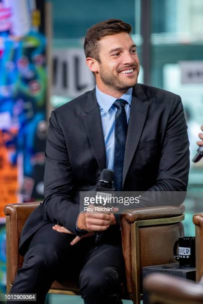 Garrett Yrigoyen discusses The Bachelorette season finale with the Build Series at Build Studio on August 7 2018 in New York City