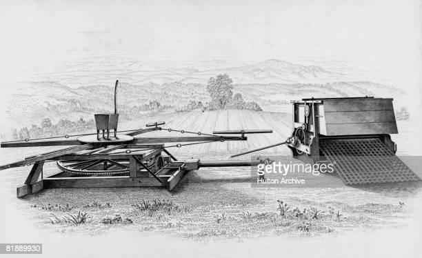 Garrett's bolting threshing machine of 1848