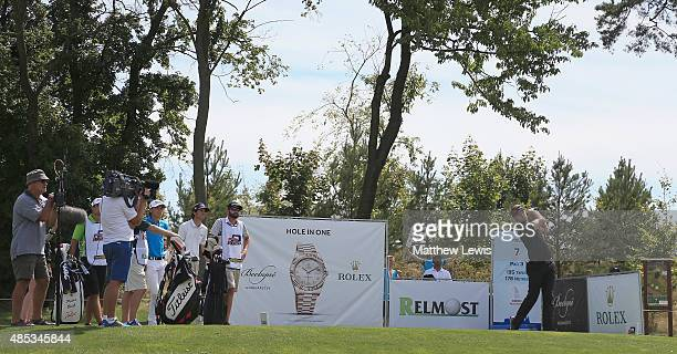 Garrick Porteous of England tees off on the 7th hole during day one of the DD Real Czech Masters at Albatross Golf Resort on August 27 2015 in Prague...