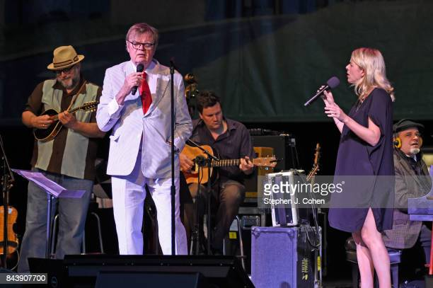 Garrison Keillor and Aoife O'Donovan performs at Iroquois Amphitheater on September 7 2017 in Louisville Kentucky