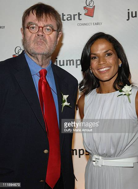 Garrison Keillor and Crystal McCrary Anthony during 3rd Annual Scribbles to Novels Gala Benefiting Jumpstart at Puck Building in New York City New...