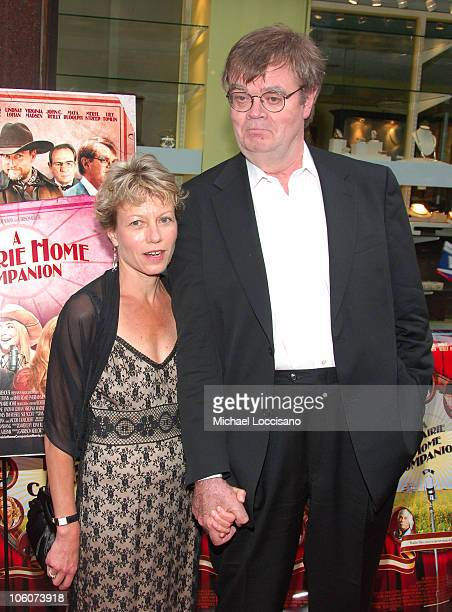 Garrison Keillor and Wife during 'A Prairie Home Companion' New York Premiere Arrivals at DGA Movie Theatre in New York City New York United States