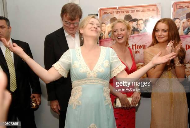 Garrison Keillor Meryl Streep Virginia Madsen and Lindsay Lohan