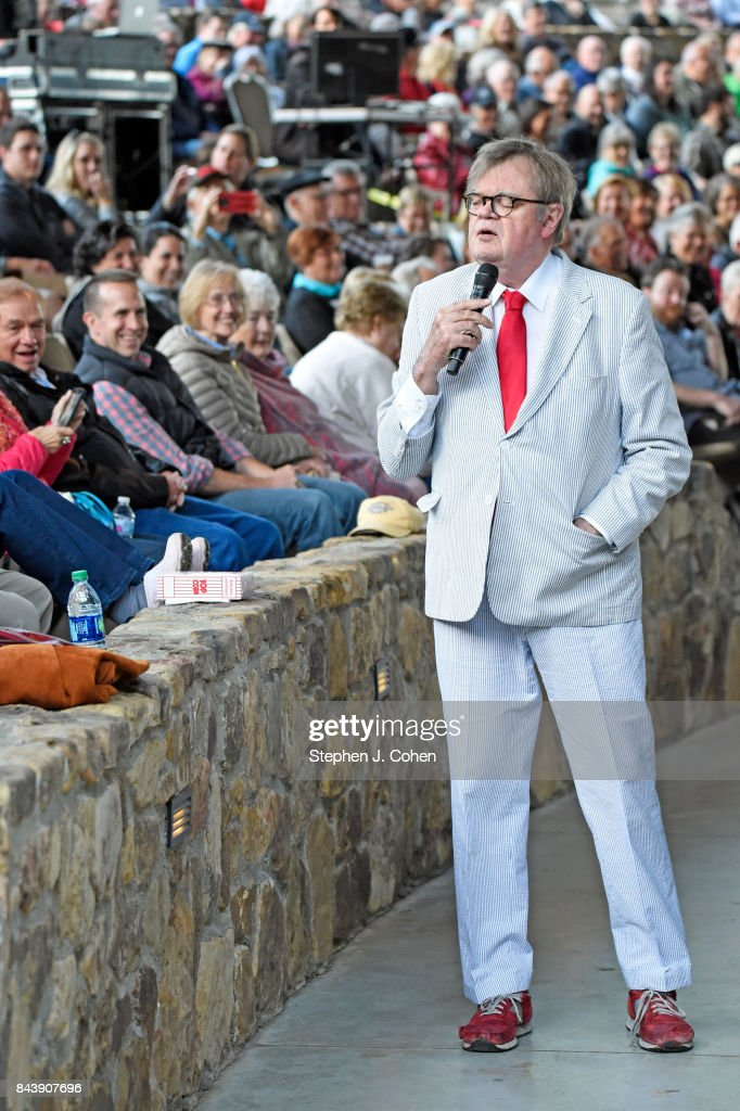 Garrison Keillor performs at Iroquois Amphitheater on September 7, 2017 in Louisville, Kentucky.