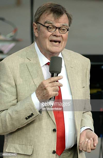 Garrison Keillor performs during 'A Prairie Home Companion' America The Beautiful tour at Red Rocks Amphitheatre on August 23 2015 in Morrison...