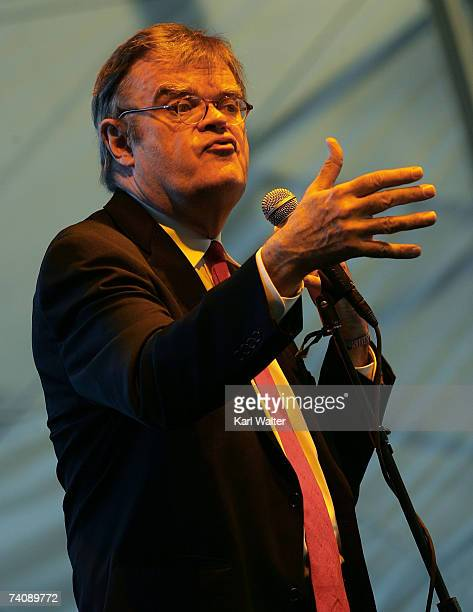 Garrison Keillor performs onstage during the Stagecoach Music Festival held at the Empire Polo Field on May 6 2007 in Indio California