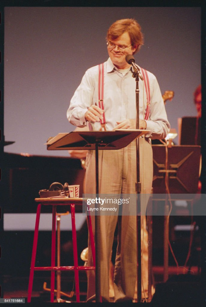 Garrison Keillor Rehearsing at the Fitzgerald Theater : Stock Photo
