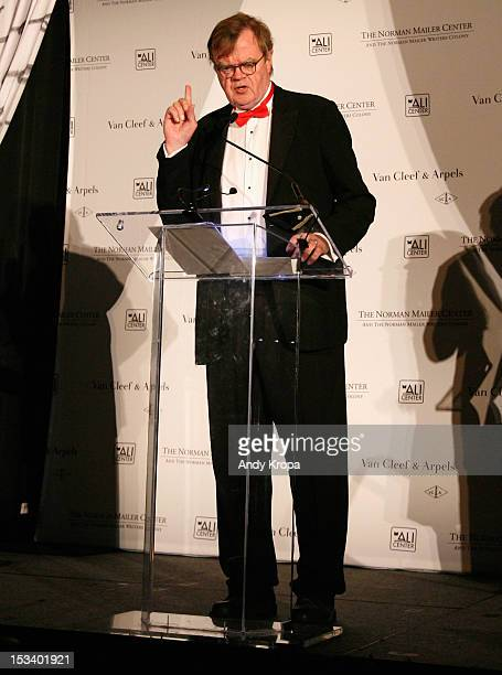 Garrison Keillor speaks onstage during the Norman Mailer Center 4th Annual Benefit Gala on October 4 2012 in New York City