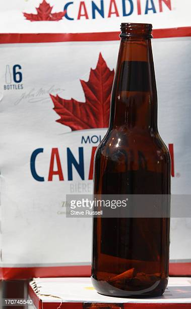 Garry Grant gets ready to return his bottles including one that the Toronto Star will follow with three cigarette butts in it the life of a Molson...