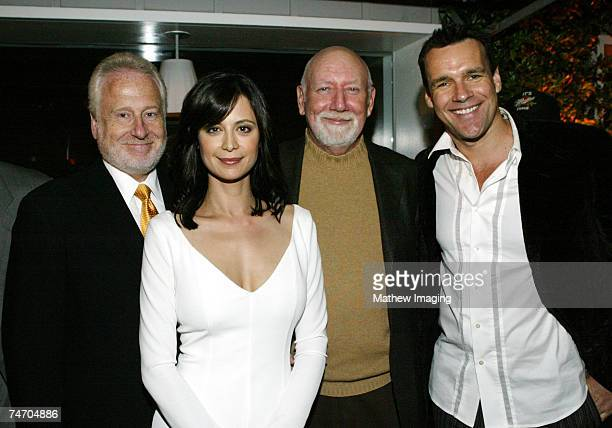 Garry Hart Catherine Bell Donald P Bellisario and David James Elliott at the JAG Celebrates 200th Episode and Nine Successful Seasons at The...