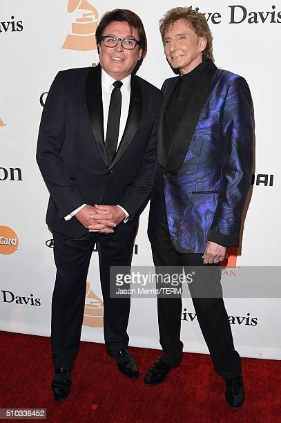 Garry Kief and singer Barry Manilow attend the 2016 PreGRAMMY Gala and Salute to Industry Icons honoring Irving Azoff at The Beverly Hilton Hotel on...