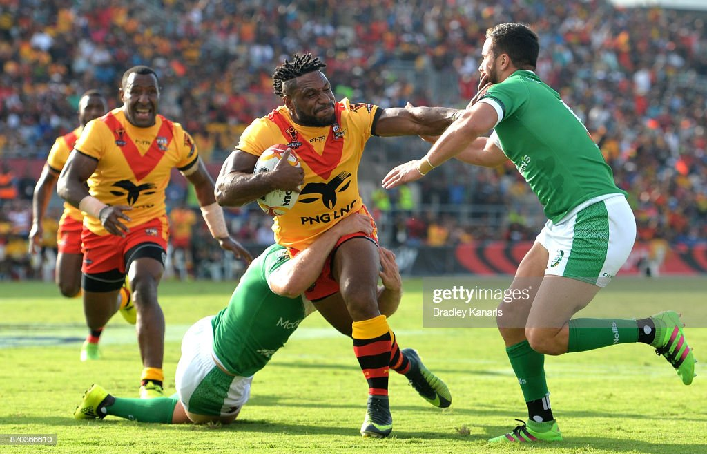 PNG v Ireland - 2017 Rugby League World Cup : News Photo