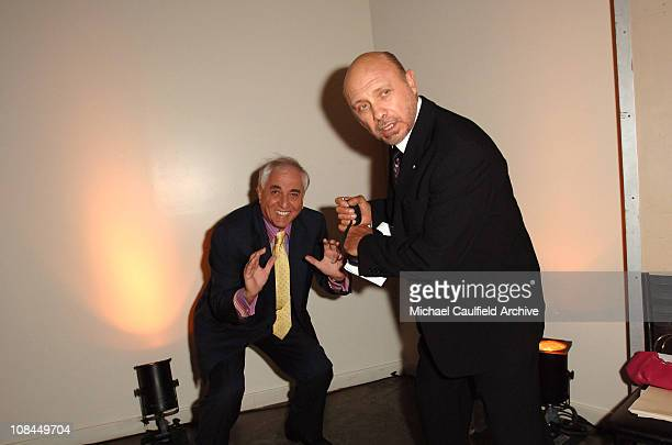 Garry Marshall and Hector Elizondo during 16th Annual GLAAD Media Awards Hollywood Red Carpet at Kodak Theatre in Los Angeles CA United States