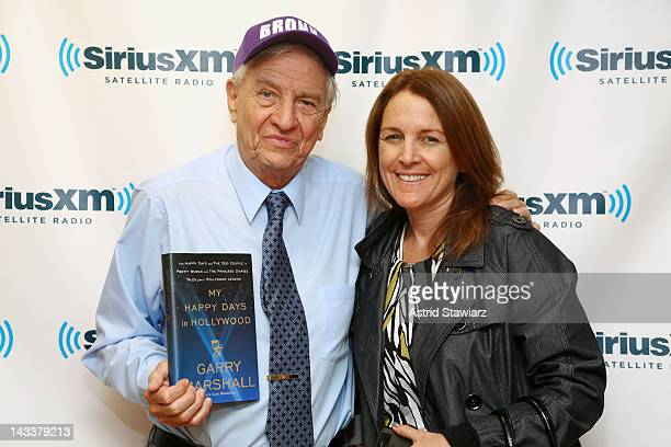 Garry Marshall and wife Lori Marshall visit the SiriusXM Studios on April 25 2012 in New York City