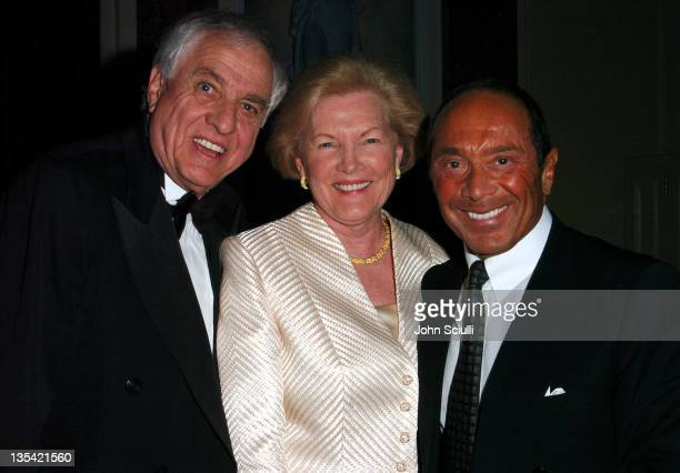 Garry Marshall, Barbara Marshall and Paul Anka during The Larry King Cardiac Foundation Gala at The Regent Beverly Wilshire Hotel in Beverly Hills,...