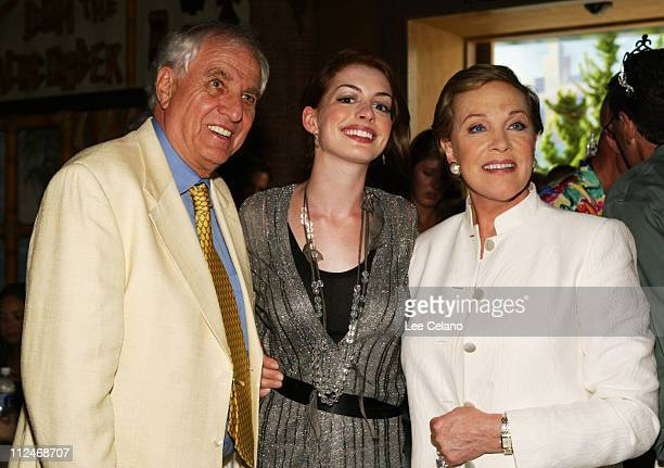 Garry Marshall director Anne Hathaway and Julie Andrews