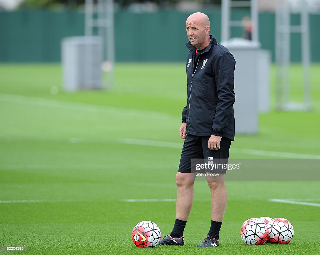 Garry McAllister First Team Coach of Liverpool during a Liverpool FC training session at Melwood Training Ground on July 28, 2015 in Liverpool, England.