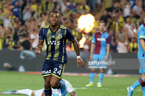 Garry Mendes Rodrigues of Fenerbahce celebrates his goal during Turkish Super Lig week 3 match between Fenerbahce and Trabzonspor at Ulker Stadium on...